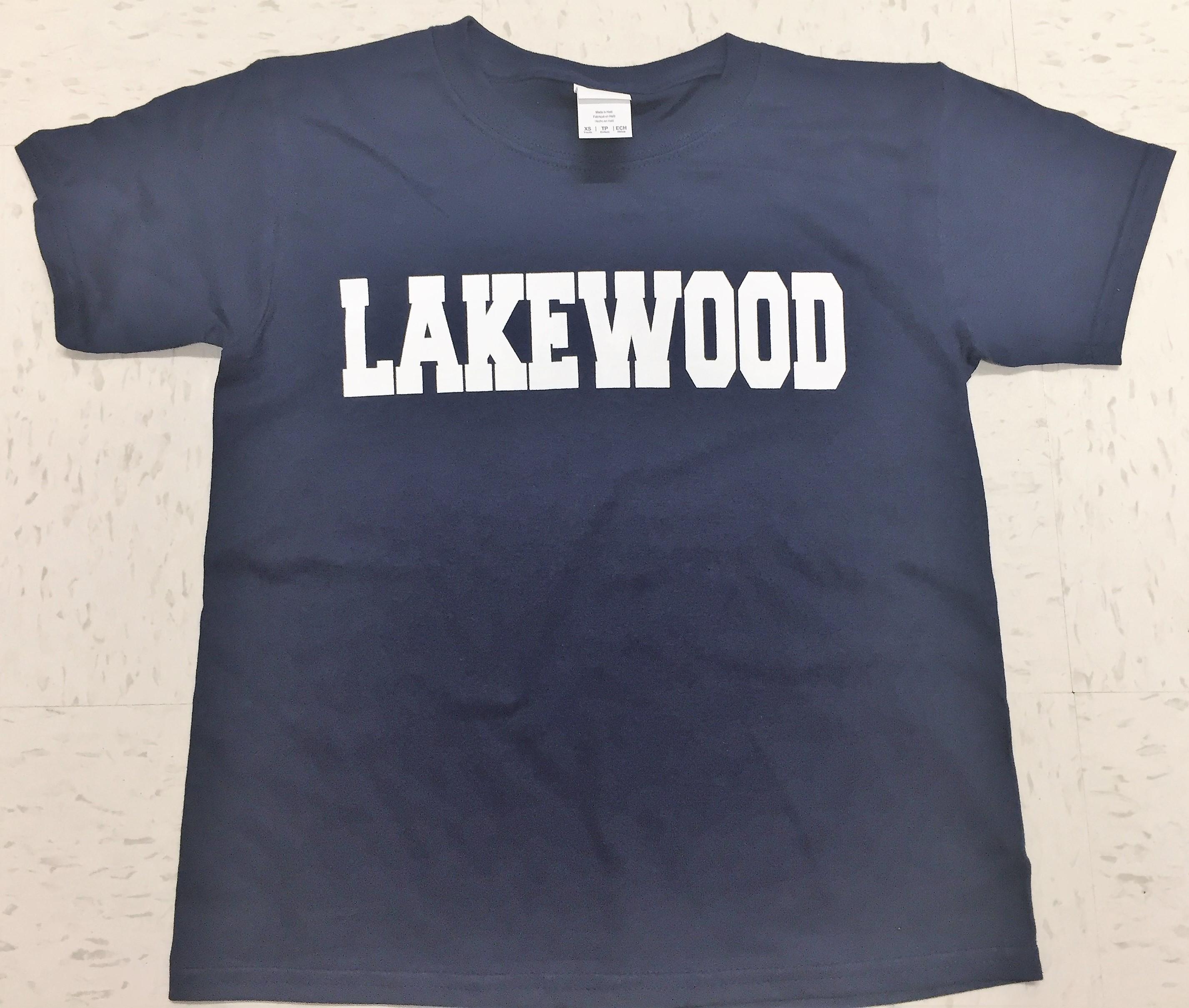 Lakewood Block T-Shirt - NAVY