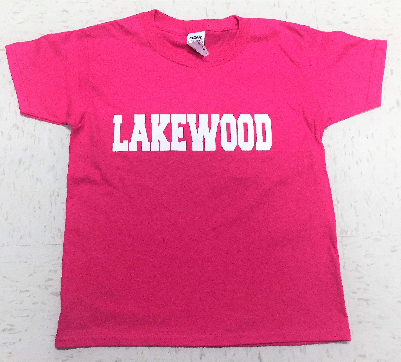 Lakewood Block T-Shirt - PINK